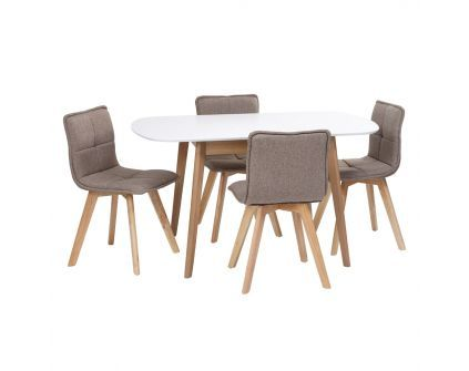 Pietų baldų komplektas MILLA+TALLBERG 1+4
