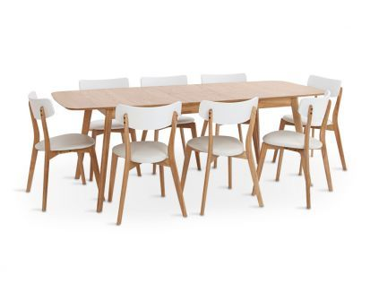 Stalas HAMINA + kėdės HVITA