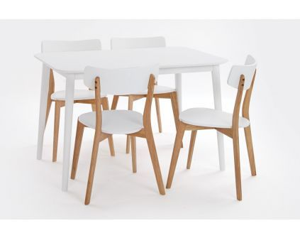 Stalas LANGDAL + kėdės HVITA